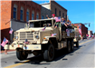 Photo of old military vehicle in parade