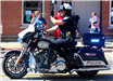 Photo of Marysville Division of Police motorcycle ridden by Ofc. Nicol