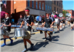 Photo of marching band percussion section
