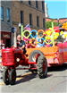 Photo of parade float with pool foam noodles