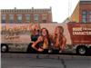 Runaway June Tour bus in Uptown Marysville
