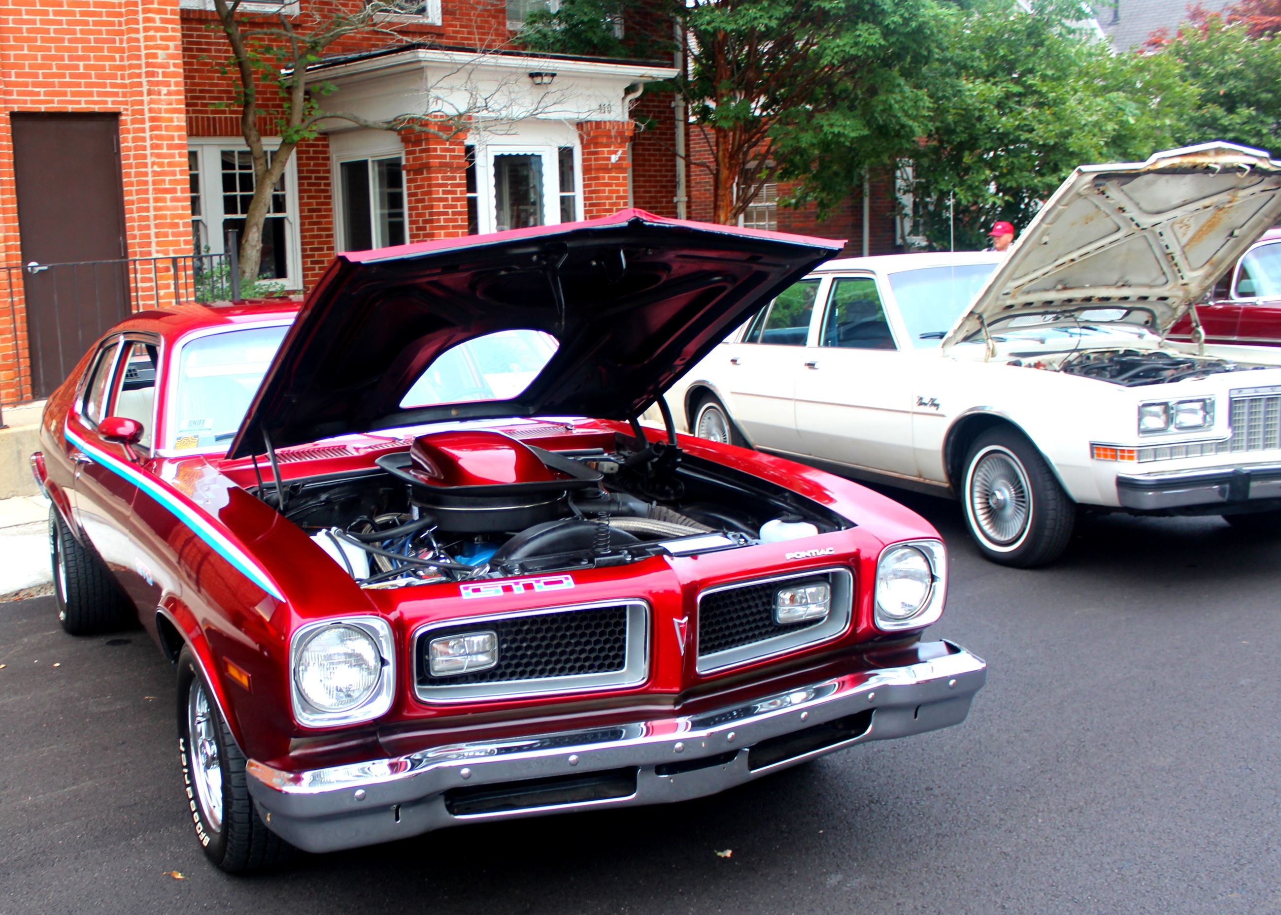 Photo of red vintage GTO car