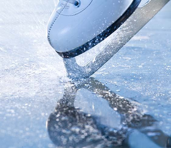 Photo of ice skate on ice
