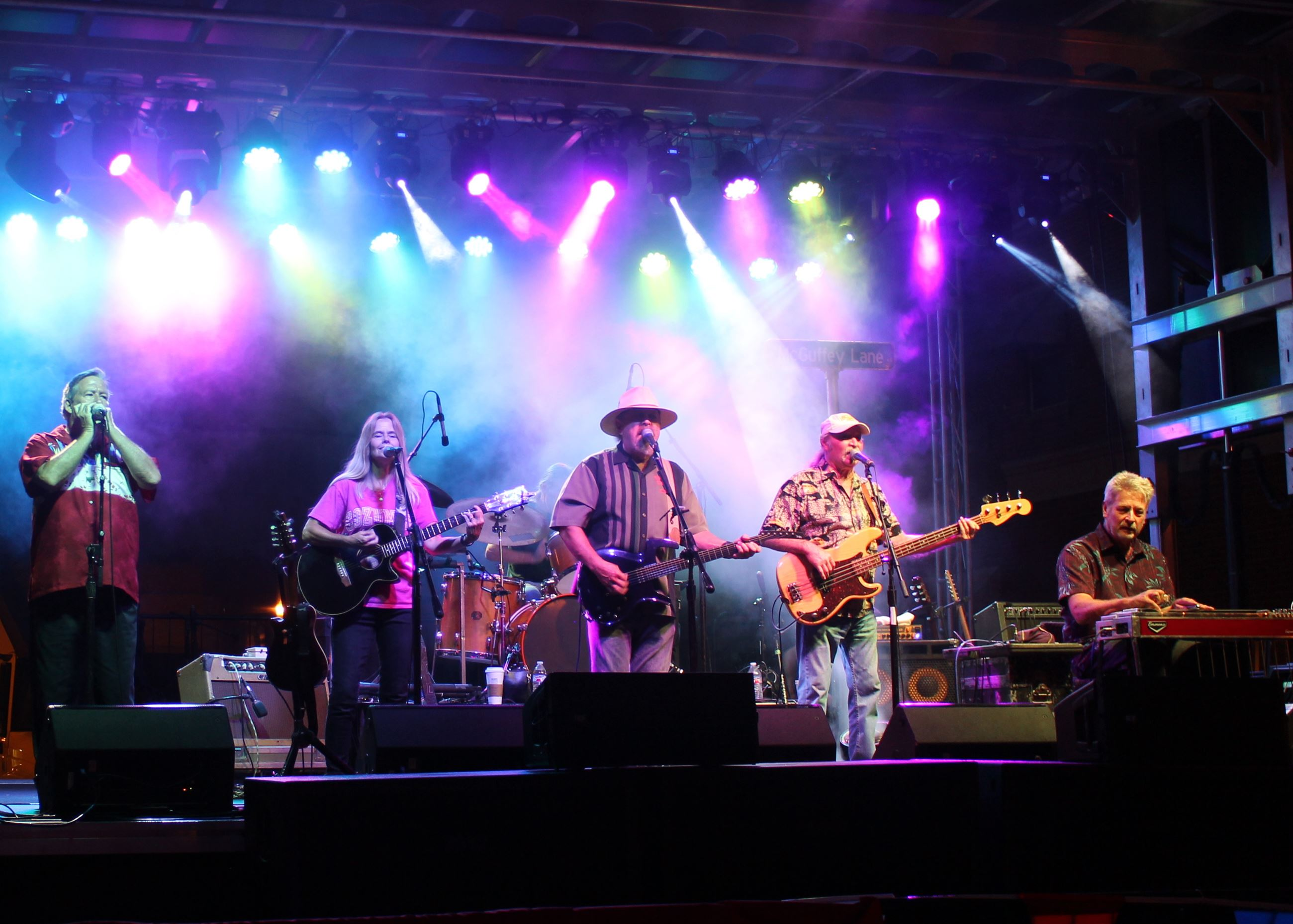McGuffey Lane Band on the stage