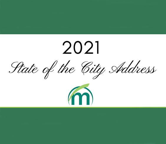 Image of 2021 State of the City Address in text